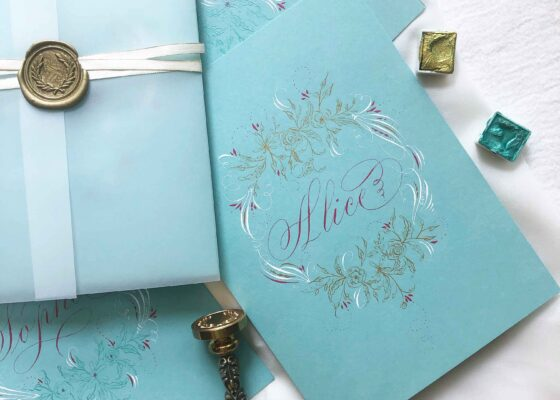Allocco Design Norfolk, VA Calligraphy | Flourished Name Card