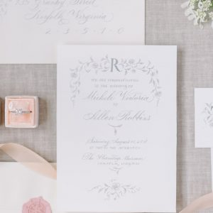 Paris inspired invitation suite