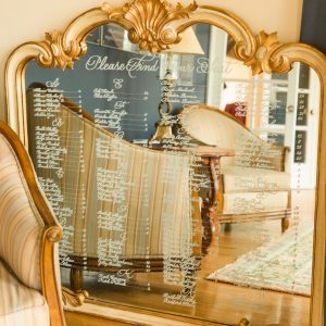 Luxurious mirror wedding seating chart
